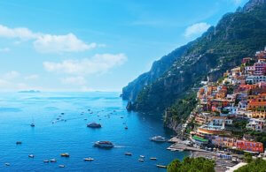 The scenic Amalfi coastline Positano